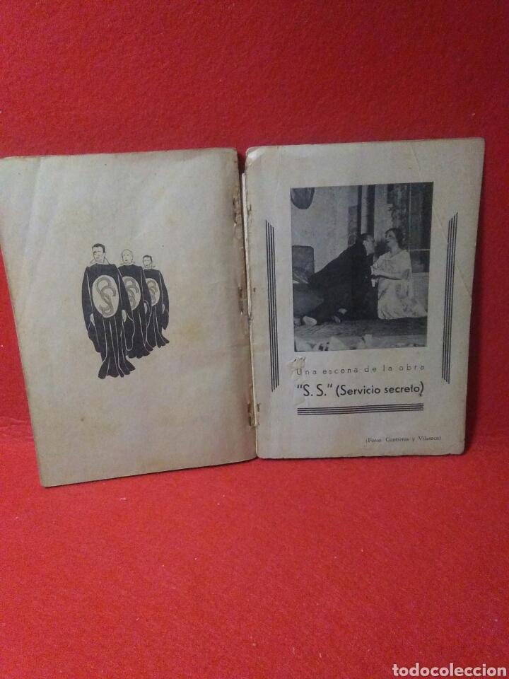 Libros antiguos: Libro comedia 1935 ,SS servicio secreto ,antonio estremera y rafael G,valdes - Foto 8 - 240084290