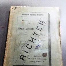 Libros antiguos: RICHTER, TEORÍAS ESTÉTICAS, AÑO 1892. Lote 240274480