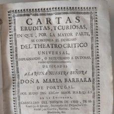 Libros antiguos: 1753 FRAY BENITO GERONIMO FEYJOO - CARTAS ERUDITAS Y CURIOSAS TOMO CUARTO ENCUADERNACION PERGAMINO. Lote 240452065