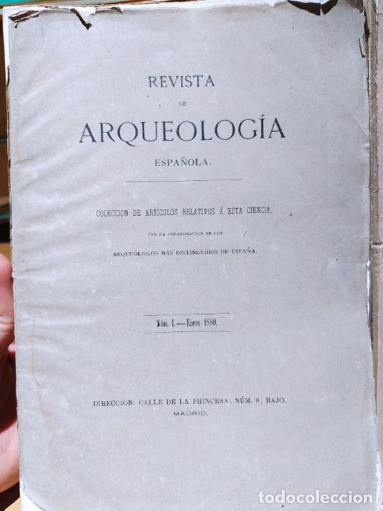 Libros antiguos: Revista de Arqueologia española. Numero 1, 2 y 3. 1880. RARISIMAS. - Foto 2 - 240495960