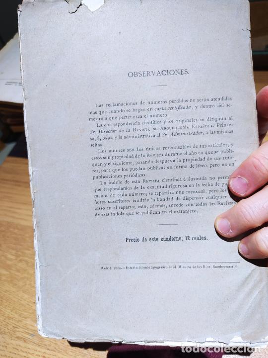 Libros antiguos: Revista de Arqueologia española. Numero 1, 2 y 3. 1880. RARISIMAS. - Foto 4 - 240495960