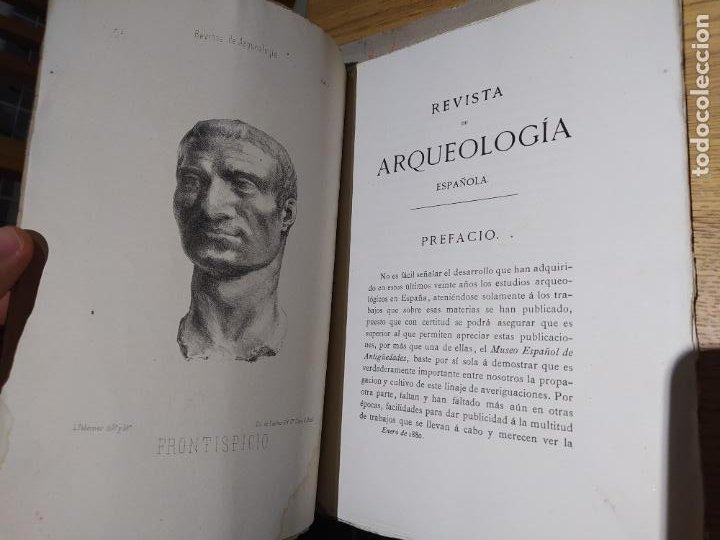 Libros antiguos: Revista de Arqueologia española. Numero 1, 2 y 3. 1880. RARISIMAS. - Foto 10 - 240495960