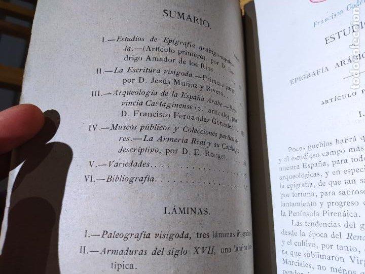 Libros antiguos: Revista de Arqueologia española. Numero 1, 2 y 3. 1880. RARISIMAS. - Foto 12 - 240495960