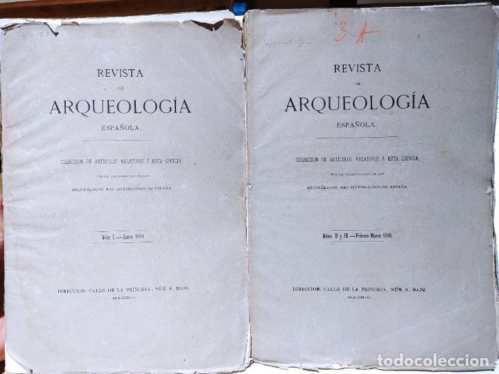 REVISTA DE ARQUEOLOGIA ESPAÑOLA. NUMERO 1, 2 Y 3. 1880. RARISIMAS. (Libros Antiguos, Raros y Curiosos - Historia - Otros)