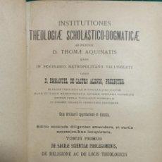 Libros antiguos: THEOLOGIAE SCHOLASTICO DOGMATICAE. CASTRO . 1987. Lote 240632565