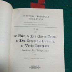 Libros antiguos: SYNOPSIS THEOLOGIAE DOGMATICAE. TANQUEREY . 1921. Lote 240632960