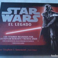 Libros antiguos: STAR WARS. EL LEGADO. STEPHEN SANSWEET. INCLUYE DOS CD. Lote 240818300
