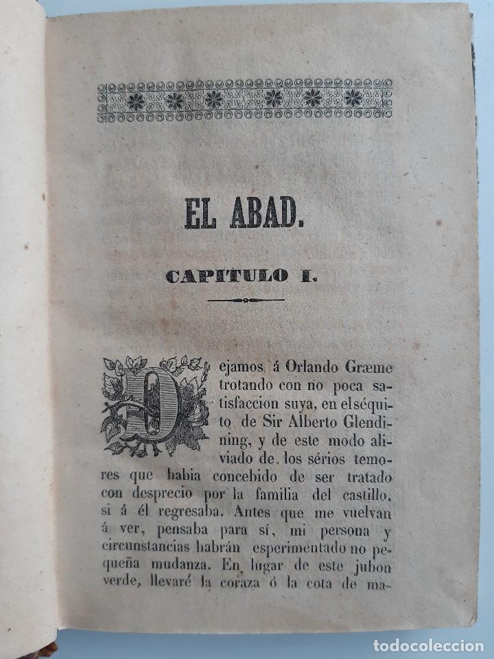 Libros antiguos: EL ABAD TOMO II Sir Walter Scott Francisco Alejandro Teruel 1845 - Foto 12 - 240957995