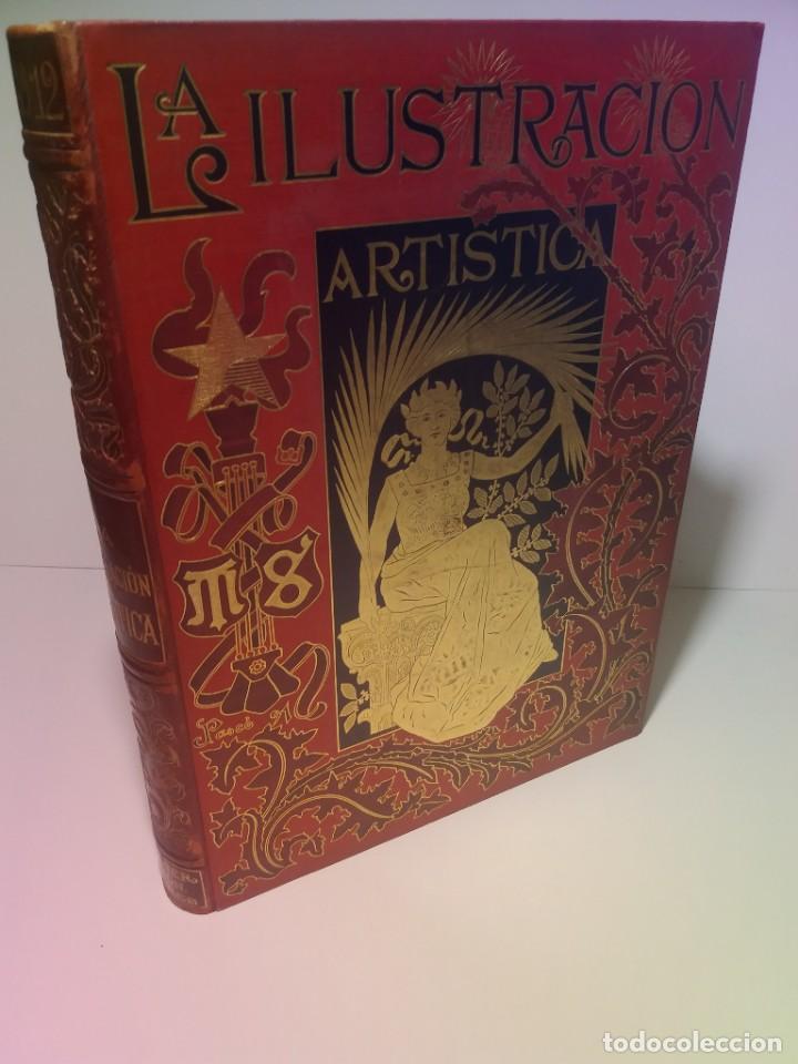 FABULOSO Y EXCEPCIONAL LIBRO ILUSTRACION ARTISTICA 110 AÑOS MONUMENTAL 40 CM (Libros Antiguos, Raros y Curiosos - Bellas artes, ocio y coleccionismo - Otros)