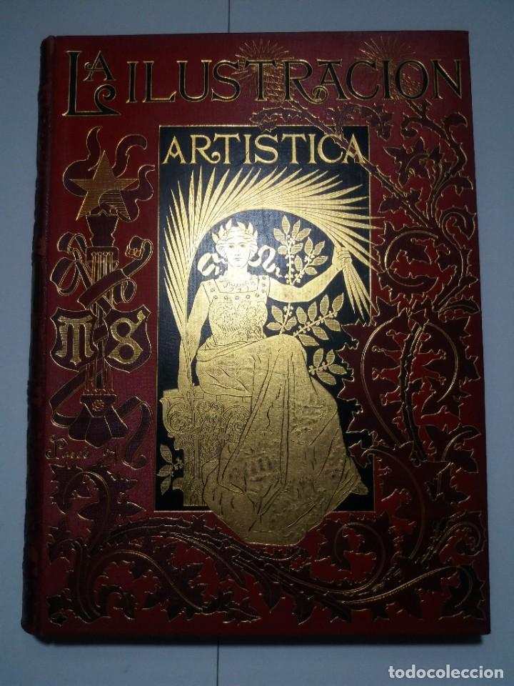 Libros antiguos: FABULOSO Y EXCEPCIONAL LIBRO ILUSTRACION ARTISTICA 110 AÑOS MONUMENTAL 40 cm - Foto 3 - 240999385