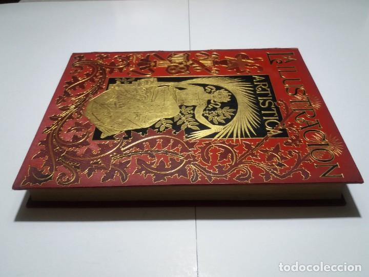 Libros antiguos: FABULOSO Y EXCEPCIONAL LIBRO ILUSTRACION ARTISTICA 110 AÑOS MONUMENTAL 40 cm - Foto 5 - 240999385