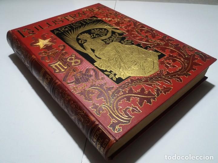 Libros antiguos: FABULOSO Y EXCEPCIONAL LIBRO ILUSTRACION ARTISTICA 110 AÑOS MONUMENTAL 40 cm - Foto 8 - 240999385