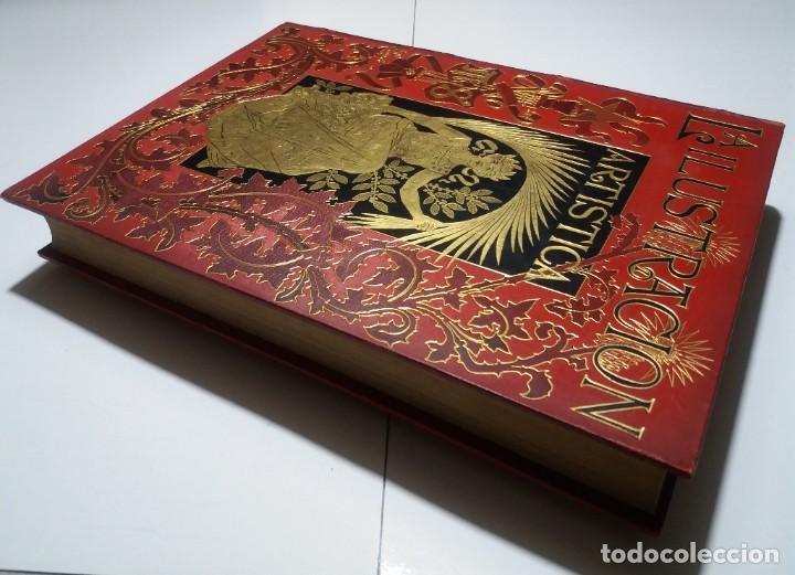 Libros antiguos: FABULOSO Y EXCEPCIONAL LIBRO ILUSTRACION ARTISTICA 110 AÑOS MONUMENTAL 40 cm - Foto 9 - 240999385