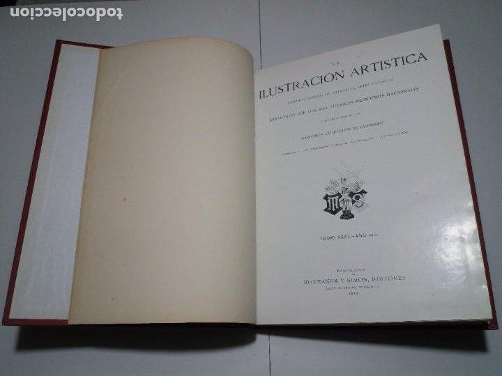 Libros antiguos: FABULOSO Y EXCEPCIONAL LIBRO ILUSTRACION ARTISTICA 110 AÑOS MONUMENTAL 40 cm - Foto 13 - 240999385