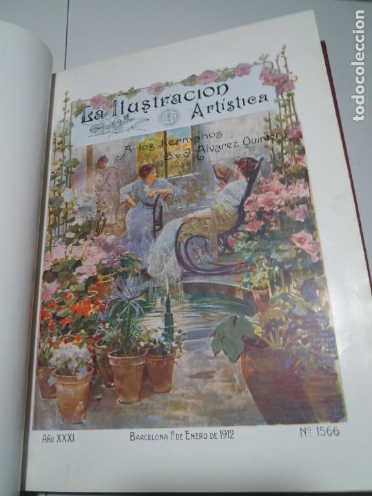 Libros antiguos: FABULOSO Y EXCEPCIONAL LIBRO ILUSTRACION ARTISTICA 110 AÑOS MONUMENTAL 40 cm - Foto 14 - 240999385