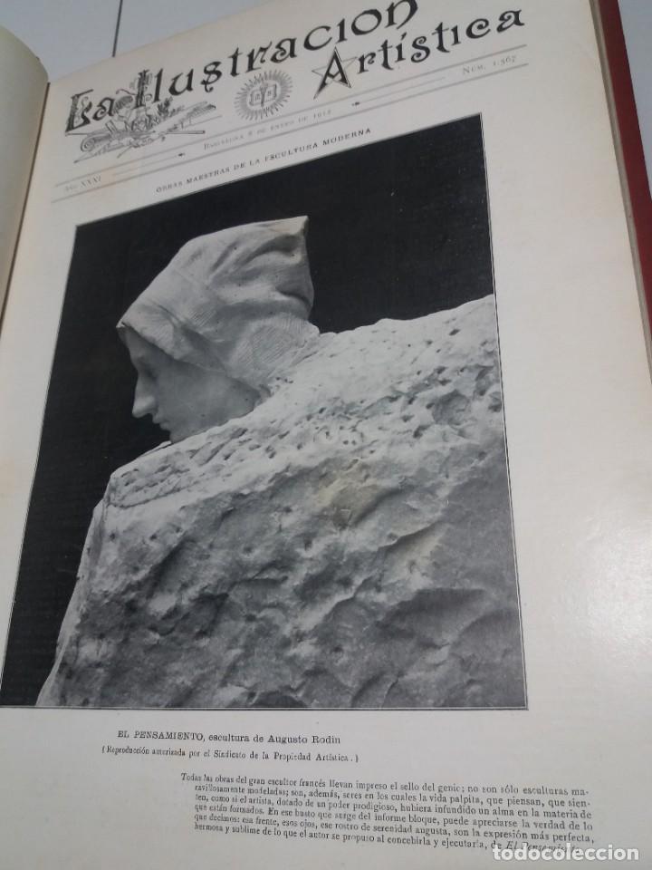 Libros antiguos: FABULOSO Y EXCEPCIONAL LIBRO ILUSTRACION ARTISTICA 110 AÑOS MONUMENTAL 40 cm - Foto 28 - 240999385