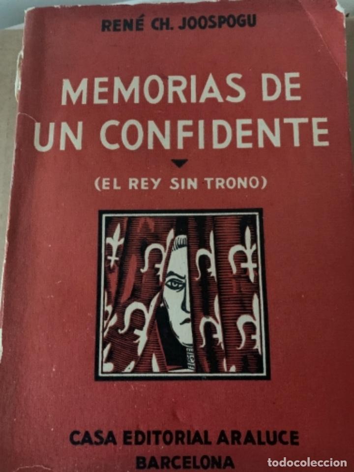 MEMORIAS DE UN CONFIDENTE (BOL, 2) (Libros antiguos (hasta 1936), raros y curiosos - Literatura - Narrativa - Otros)