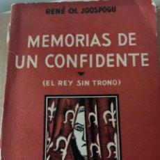 Libros antiguos: MEMORIAS DE UN CONFIDENTE (BOL, 2). Lote 241074305