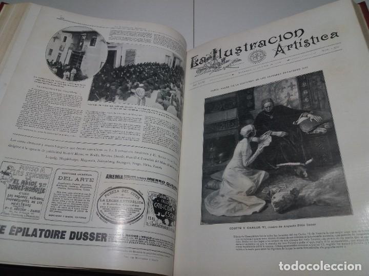 Libros antiguos: FABULOSO Y EXCEPCIONAL LIBRO ILUSTRACION ARTISTICA 110 AÑOS MONUMENTAL 40 cm - Foto 161 - 240999385