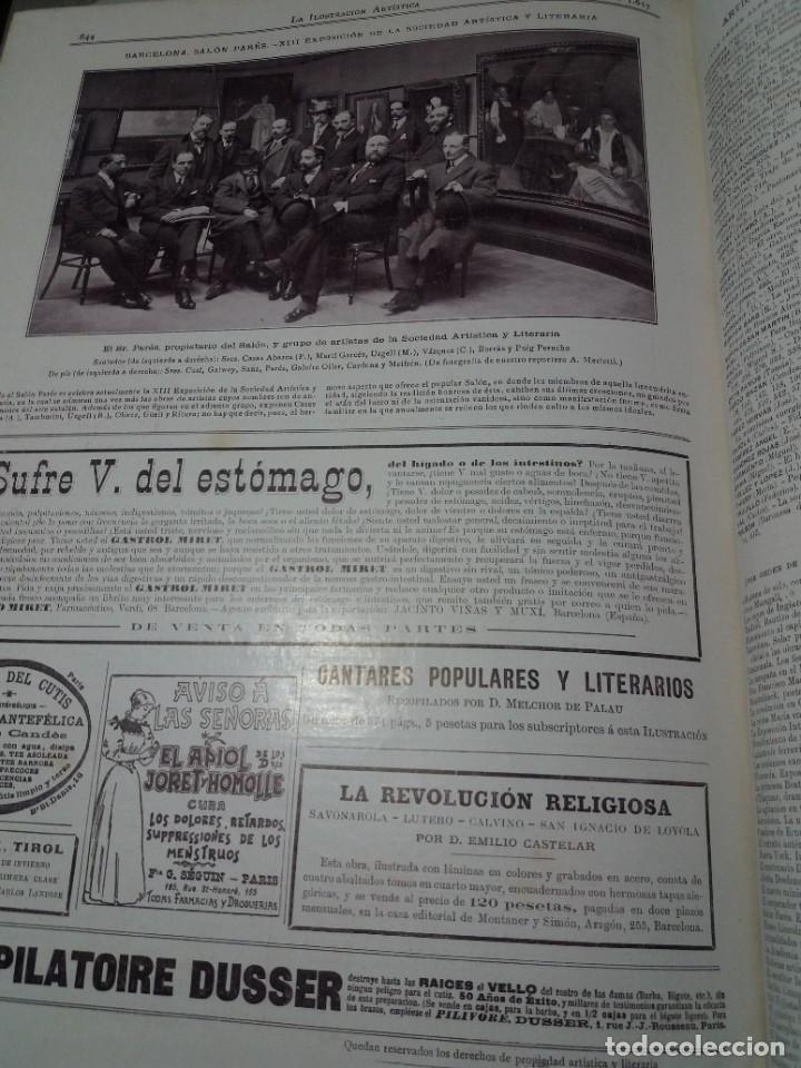 Libros antiguos: FABULOSO Y EXCEPCIONAL LIBRO ILUSTRACION ARTISTICA 110 AÑOS MONUMENTAL 40 cm - Foto 313 - 240999385