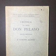 Libros antiguos: SANCHEZ ALONSO CRONICA DEL OBISPO DON PELAYO. Lote 241183730