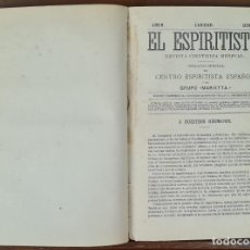 Libros antiguos: EL CRITERIO ESPIRITISTA. ENRIQUE PASTOR Y BEDOYA. IMP. FUENCARRAL. 1878/1879.. Lote 241670285