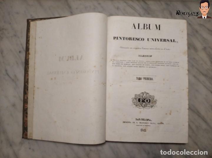 Libros antiguos: ÁLBUM PINTORESCO UNIVERSAL (1842) TOMO PRIMERO - SIGLO XIX - EDITOR FRANCISCO OLIVA - BARCELONA - Foto 4 - 241730585