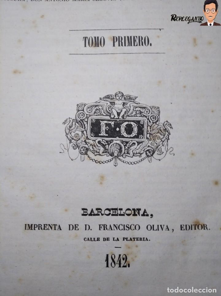 Libros antiguos: ÁLBUM PINTORESCO UNIVERSAL (1842) TOMO PRIMERO - SIGLO XIX - EDITOR FRANCISCO OLIVA - BARCELONA - Foto 2 - 241730585