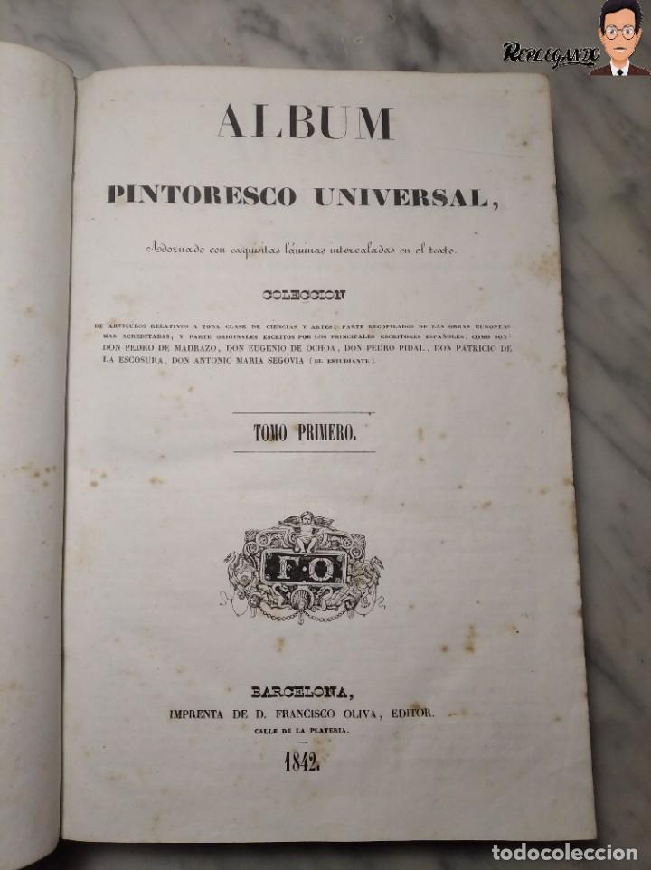 Libros antiguos: ÁLBUM PINTORESCO UNIVERSAL (1842) TOMO PRIMERO - SIGLO XIX - EDITOR FRANCISCO OLIVA - BARCELONA - Foto 35 - 241730585