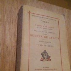 Libros antiguos: DIARIO DE UN TESTIGO DE LA GUERRA DE AFRICA. PEDRO A. DE ALARCÓN. TOMO I. Lote 241803030