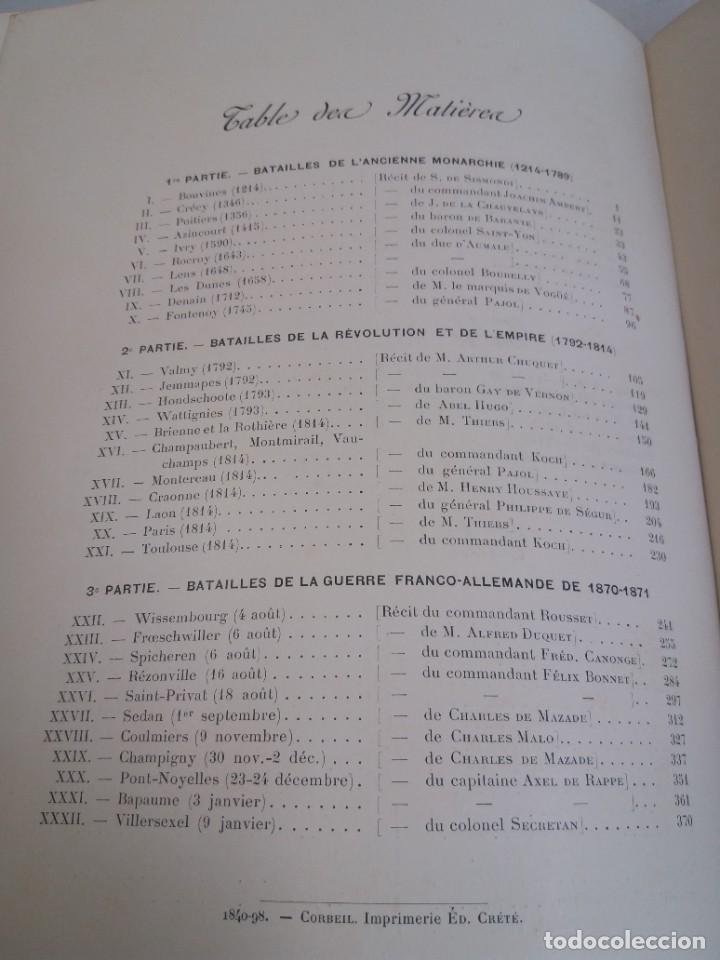 Libros antiguos: EXCELENTE Y PRECIOSO LIBRO LOS CAMPOS DE BATALLA DE FRANCIA MODERNISTA MAS DE 120 AÑOS - Foto 122 - 241953365