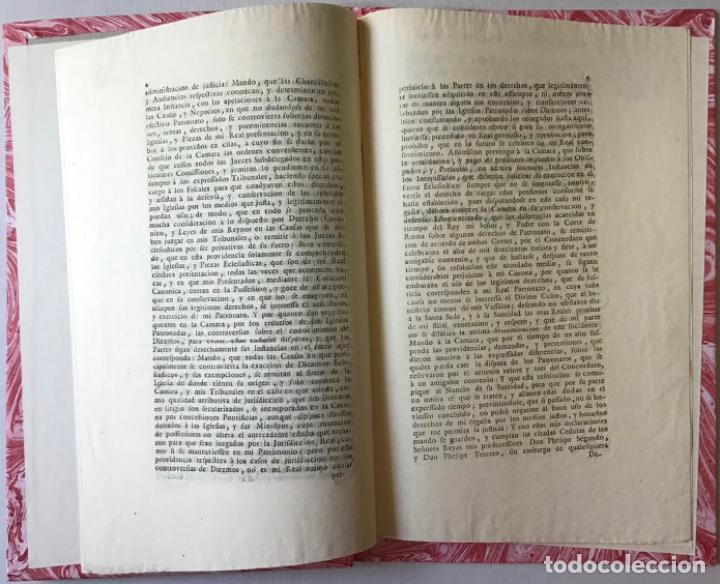 Libros antiguos: COPIA DEL REAL DECRETO DE TRES DE OCTUBRE DE MIL SETECIENTOS Y QUARENTA Y OCHO, QUE S. M. SE... - Foto 3 - 242459245