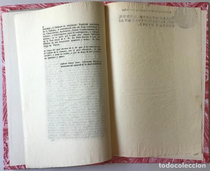 Libros antiguos: COPIA DEL REAL DECRETO DE TRES DE OCTUBRE DE MIL SETECIENTOS Y QUARENTA Y OCHO, QUE S. M. SE... - Foto 4 - 242459245