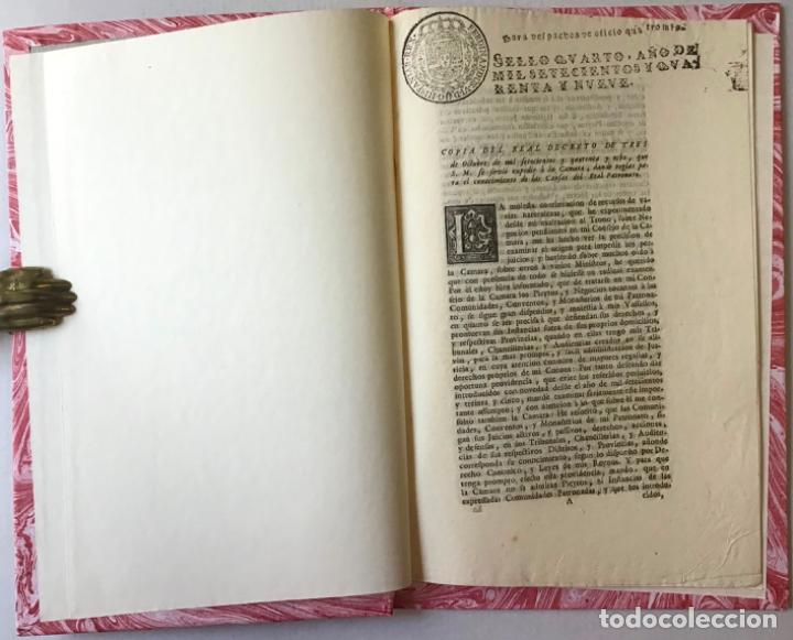 COPIA DEL REAL DECRETO DE TRES DE OCTUBRE DE MIL SETECIENTOS Y QUARENTA Y OCHO, QUE S. M. SE... (Libros Antiguos, Raros y Curiosos - Historia - Otros)