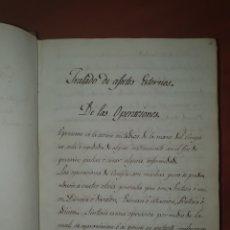 Libros antiguos: LIBRO MANUSCRITO TRATADO DE AFECTOS EXTERNO A LAS OPERACIONES. Lote 243036480