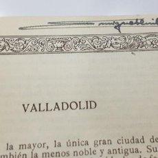 Libros antiguos: EL ARTE EN ESPAÑA Nº 18 VALLADOLID. EJEMPLAR CON FIRMA DE MIGUEL FLUITERS (EX ALCALDE GUADALAJARA). Lote 243072805