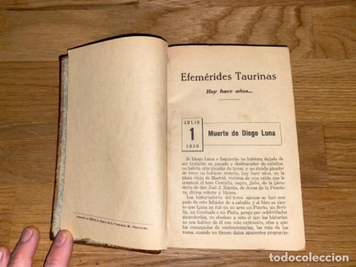 Libros antiguos: EFEMÉRIDES TAURINAS 1925 DON VENTURA 1928 LUX BARCELONA SEGUNDA SERIE - Foto 9 - 243143010