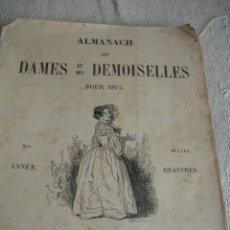 Libros antiguos: ALMANACH DES DAMES ET DES DEMOISELES POUR 1853. Lote 243309055