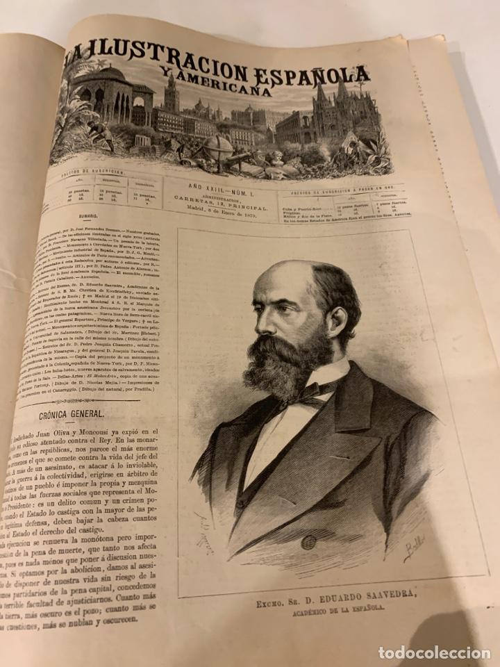 Libros antiguos: La ilustración española y americana año 1879, primera parte - Foto 2 - 243441240