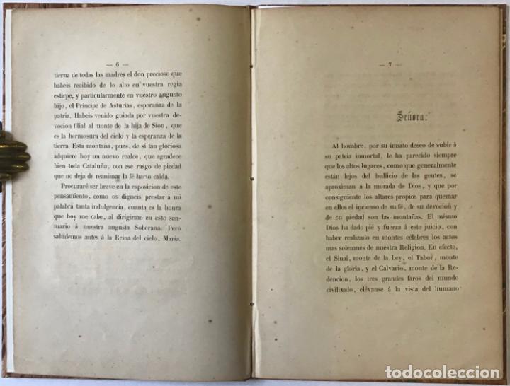 Libros antiguos: ORACION QUE, EN LA FUNCION RELIGIOSA CELEBRADA EN MONTSERRAT EL DIA 1º DE OCTUBRE DE 1860 con... - Foto 2 - 243539155