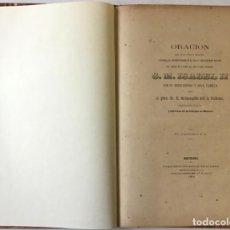 Libros antiguos: ORACION QUE, EN LA FUNCION RELIGIOSA CELEBRADA EN MONTSERRAT EL DIA 1º DE OCTUBRE DE 1860 CON.... Lote 243539155