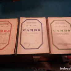 Libros antiguos: CAMBÓ - 3 TOMOS - JOSEP PLA - AÑOS 1928-1929-1930 (MATERIAL PER UNA HISTÒRIA D'AQUESTS ÚLTIMS ANYS). Lote 243542955
