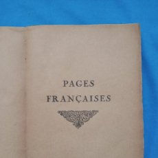Libros antiguos: PAGES FRANÇAISES. Lote 243640040