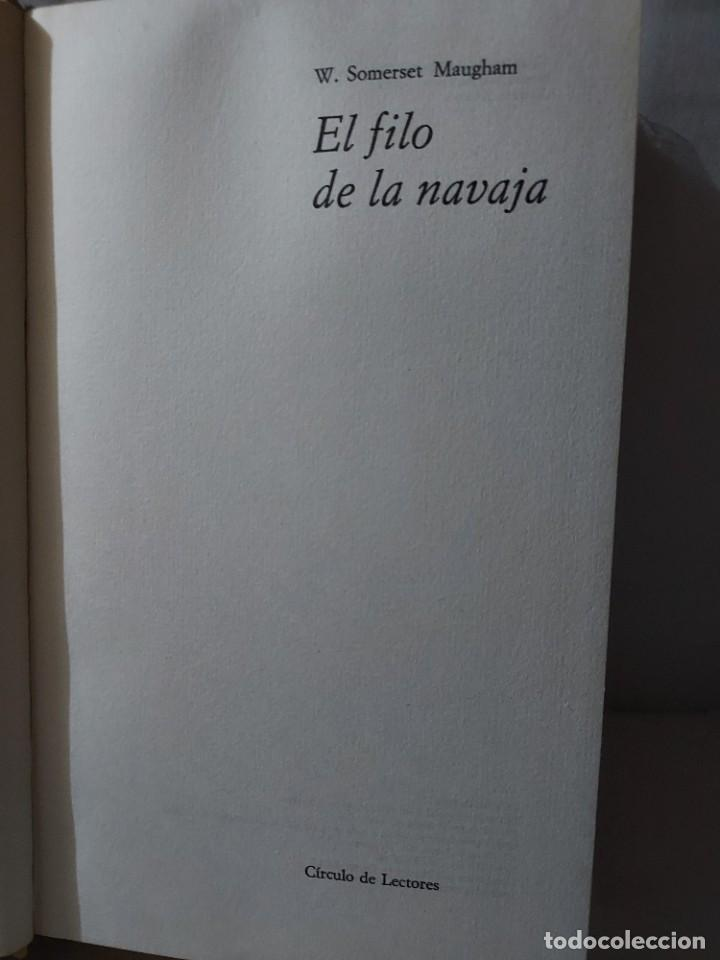 46268 - EL FILO DE LA NAVAJA - POR W. SOMERSET MAUGHAM - CIRCULO DE LECTORES - AÑO 1959 (Libros Antiguos, Raros y Curiosos - Literatura - Otros)