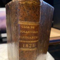 Libros antiguos: CALENDARIO MANUAL Y GUÍA DE FORASTEROS.. Lote 243798405