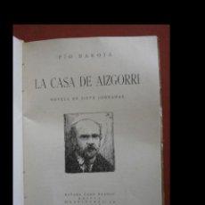 Libros antiguos: LA CASA DE AIZGORRI. PIO BAROJA. Lote 243851245