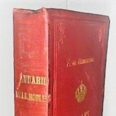 Libros antiguos: F. FERNANDEZ DE BETHENCOURT ... ANALES DE LA NOBLEZA DE ESPAÑA. ANUARIO DE 1886 ... 1885. Lote 243897385