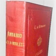 Libros antiguos: F. FERNANDEZ DE BETHENCOURT ... ANALES DE LA NOBLEZA DE ESPAÑA. ANUARIO DE 1888 ... 1887. Lote 243897730