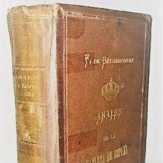 Libros antiguos: F. FERNANDEZ DE BETHENCOURT ... ANALES DE LA NOBLEZA DE ESPAÑA. ANUARIO DE 1882 ... 1882. Lote 243898055