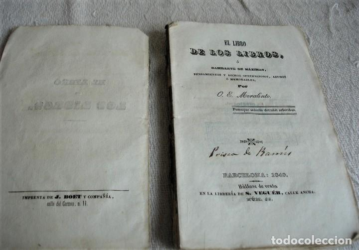 Libros antiguos: El libro de los libros o ramillete de máximas - Foto 3 - 243921940